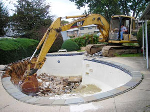 Pool Removal in Syracuse NY, Pool demo in Syracuse NY