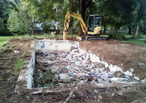 Pool removal in Cortland, NY