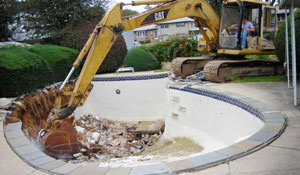 swimming pool removal and demo in Syrace NY from CDP Excavation Services